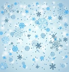 Snowfall in winter vector image vector image