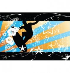 surfer background vector image