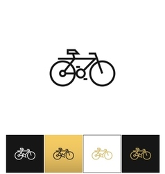 Bicycle line symbol or travel velocity bike vector image vector image