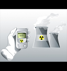 radiation care vector image vector image