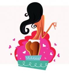 cake strip girl vector image vector image