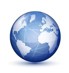 Glossy globe icon vector image vector image