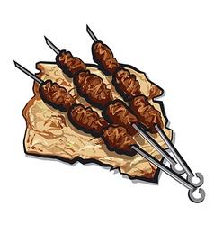 grilled kebab vector image
