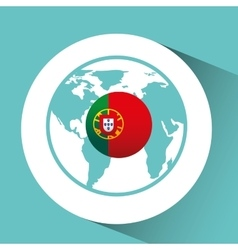 portugal flag pin map design vector image vector image