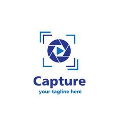 capture business logo vector image