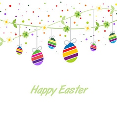 easter spring card vector image vector image