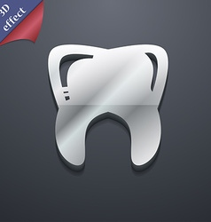 Tooth icon symbol 3D style Trendy modern design vector image vector image