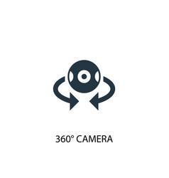 360 camera icon simple element vector