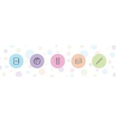 5 pen icons vector