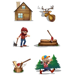 A life of a lumberjack vector image
