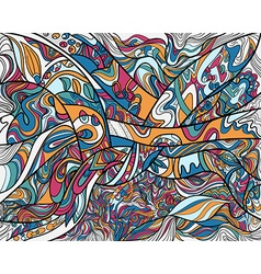 Abstract line art with coloring vector image