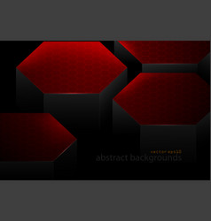 Abstract red hexagonal shapes scene vector