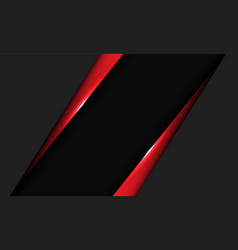 Abstract red metallic triangle dark grey blank vector