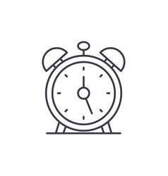 alarm clock line icon concept alarm clock vector image