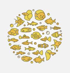 Aquarium fish yellow vector