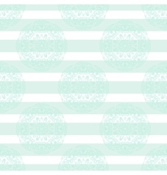 Baby blue mandala subtle striped seamless pattern vector