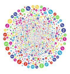 Bank seal explosion spheric cluster vector