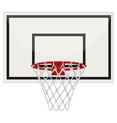 Basketball ring on white background vector