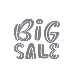 big sale gray calligraphy and lettering text on vector image