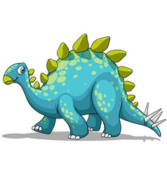 Blue and green dinosaur vector