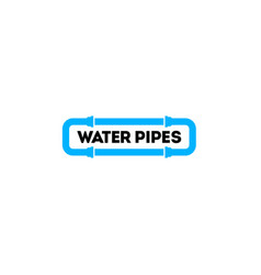 blue water pipes logo vector image