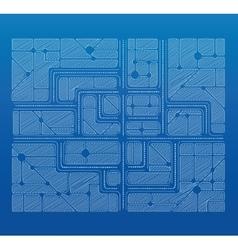 Blueprint plan vector image