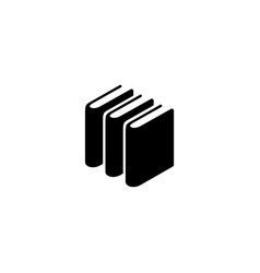 books stack flat icon vector image