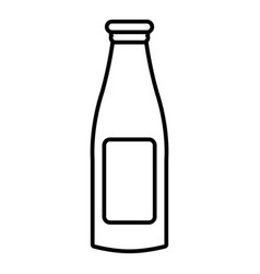 bottle cream icon outline style vector image