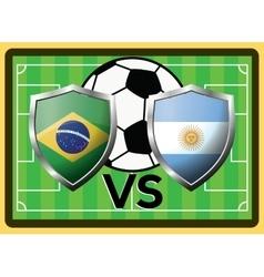 Brazil vs Argentina Sport game symbol vector image