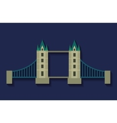 Bridge london england design vector