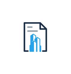 Building document logo icon design vector