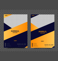 business annual report cover design and business vector image