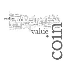 Bwcc what affects value a coin vector