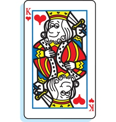 Cartoon King of Hearts vector image