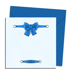 Christmas letter with gift bow vector
