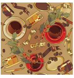 coffee background44 vector image vector image
