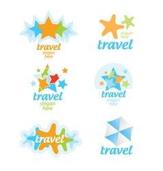 Collection of logos for the travel and tourism vector