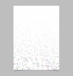 color circle pattern flyer template - document vector image