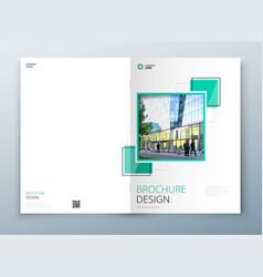 cover brochure template design dark blue vector image
