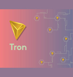 Cryptocurrency tron blockchain circuit network vector