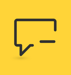 delete comment or chat flat icon isolated on vector image
