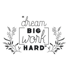 Dreams message with hand made font vector