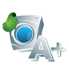 eco class washing machine vector image