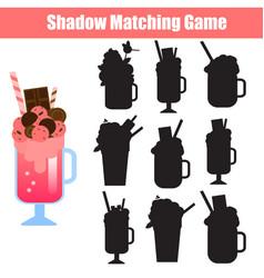 Educational children game shadow matching kids vector