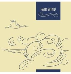 Fair wind background vector