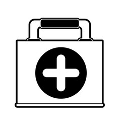 first aids suitcase vector image