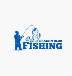 fishing fishing logo badge 9 vector image