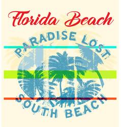 Florida summer tee graphic design vector