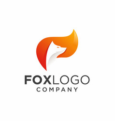 Fox logo design vector