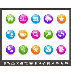 FTP and Hosting Icons Rainbow Series vector